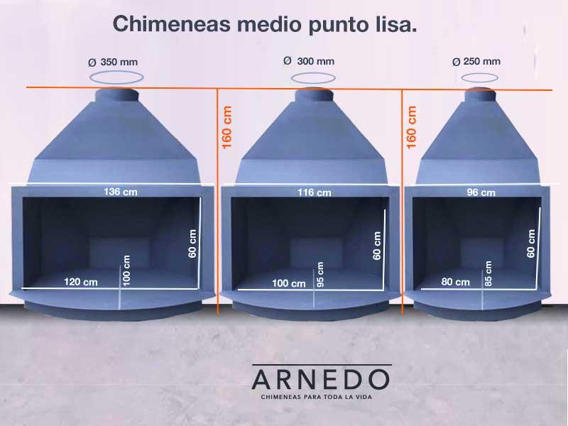 chimenea-hierro-medio-punto-lisa
