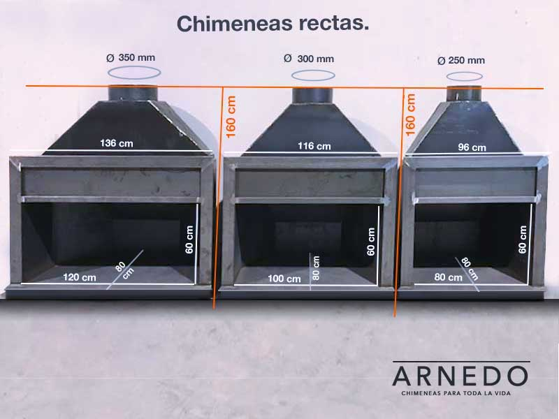 chimeneas-hierro-rectas